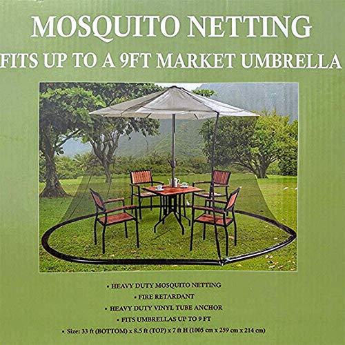 DSHUJC Couverture Anti-Moustique de Jardin extérieur, écran de Table Parapluie de 9 Pieds, Noir pour Parasol oa Gazebo
