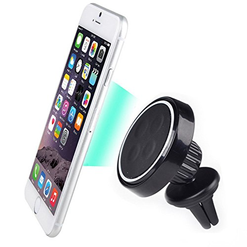 SINOKAL Universal Magnetic Air Vent Car Mount Holder for Tablet, All Smartphone Size Including iPhone 6,6 Plus Samsung Galaxy Series, Lg Phone, HTC and GPS Devices (Black)