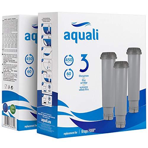 6 cartuchos de filtro de repuesto   Compatible con Krups   Set Aquali compatible con Bosch y Siemens