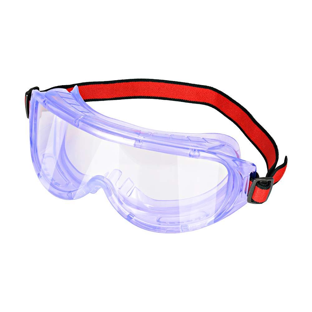 stonylab Gafas de seguridad, Gafas Protectoras Transparentes Antivaho Antiarañazos Ajustables Ligeras, Safety Goggles Lentes Protectoras con Amplia Visión, Resistente a Salpicaduras Química y Impactos