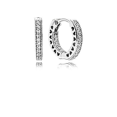 f829ec379 Pandora Women Silver Hoop Earrings - 296317CZ