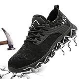 GUFANSI Chaussure de Securité Homme Embout Acier Femme Protection Antidérapante Basket Legere Travail Chaussuress...
