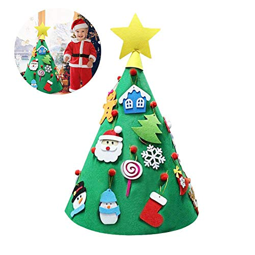 Eternitry Filz Weihnachtsbaum DIY Lustige Party Dekorationen DIY Dreidimensionale Weihnachtsbäume Spielzeug Kegelförmiger Filzbaum DIY Etwa 70 50 cm for Sale