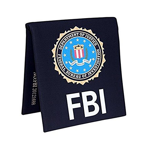 Winterworm FBI Style Wallet with Badges Creative Hand Making Purse Perfect Father
