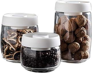 Bocaux de rangement de conteneurs de stockage de nourriture avec couvercles, organisation de stockage de cuisine parfaite ...