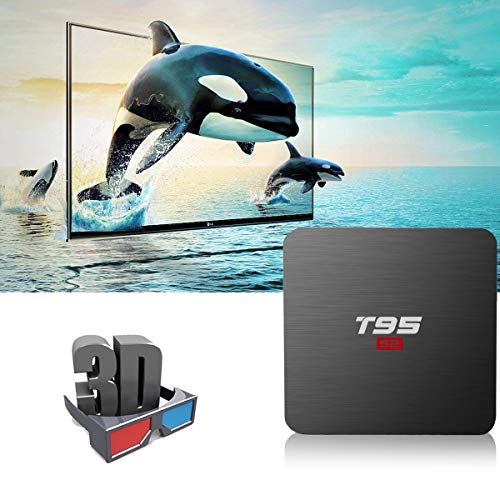 T95 S2 Android TV Box, Android 7.1 TV Box 1GB RAM 8GB ROM Amlogic S905W Quad-core 2.4G WiFi HDMI HD 3D 4K Android Box