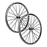 Vuelta 28 Pollici Bici da Corsa Set Ruote Bici PRO Lite 20 24f. 710 Nero