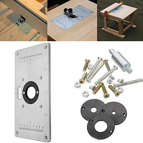 Valigrate Startseite Holzbearbeitungsbänke Aluminium-Fräser-Tischplatte mit Ringen und Schrauben