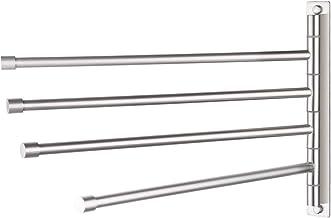 KES Swivel Towel Bar SUS 304 Stainless Steel 4-Arm Bathroom Swing Hanger Towel Rack Holder Storage Organizer Space Saving Wall Mount Brushed Finish, A2102S4-2