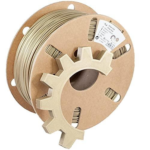 Ring Industrial Filaments Filamento PLA para impresora 3D (1,75 mm, 1 kg, dorado brillante)