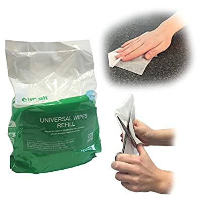 Clinell UNIVERSAL WIPE MULTI PURPOSE SURFACE NHS APPROVED DISINFECTION MEDICAL CLEANING 225 WIPES REFILL from Steroplast
