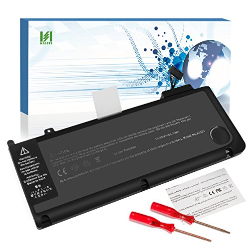 HASESS A1322 Battery Compatible for MacBook Pro 13 inch Battery Replacement A1322 A1278 Battery for MacBook Pro 13 Battery 2009 2010 2011 2012 with Two Screwdrivers 63.5Wh/6000mAh - 12 Months Warranty