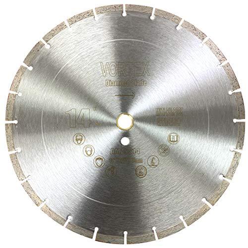 Cyclone VSS 14 inch Dry or Wet Cutting General Purpose Power Saw Segmented Diamond Blades for Concrete Stone Brick Masonry (14')