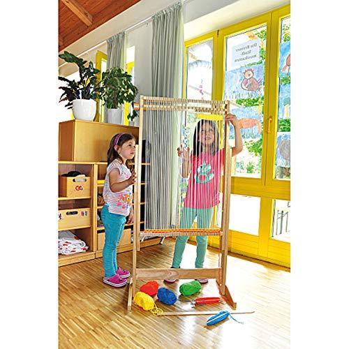 KL-Toys Riesen Webrahmen / Bodenaufsteller / Maße: 40 x 64 x 125 cm / Material: Holz, Baumwolle, Metall / für Kinder ab 3 Jahre