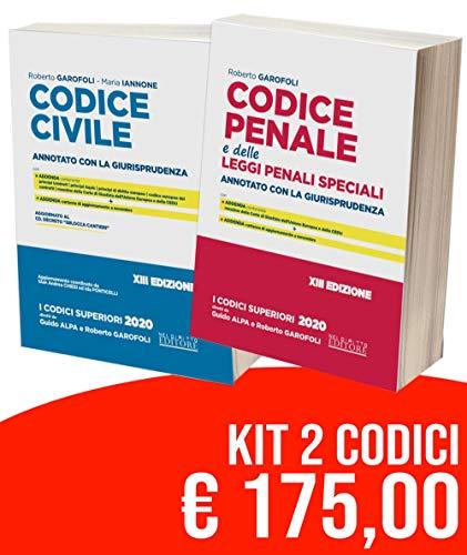 Kit Codici Esame Avvocato 2020: Codice civile-Codice penale annotati con la giurisprudenza - per esame abilitazione forense 2020