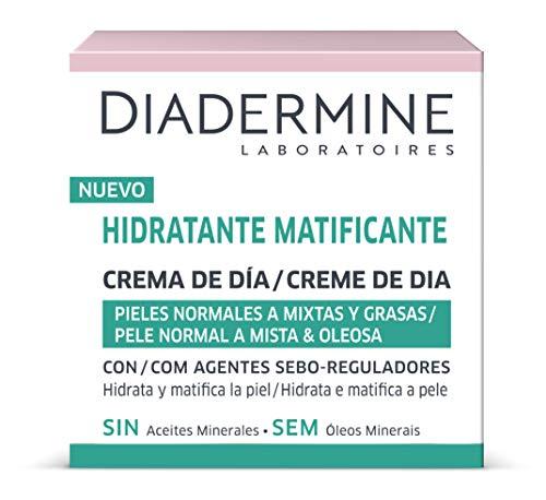 Diadermine - Crema Hidratante y Matificante de Día para pieles normales y mixtas - Cutis uniforme y sin brillos -  2 unidades de 50 ml