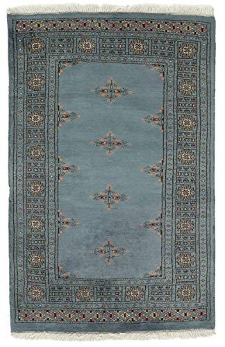 Nain Trading Pakistan Buchara 3ply 122x80 Orientteppich Teppich Grau Handgeknüpft Pakistan