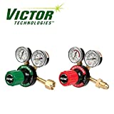 Set of Genuine Victor Oxygen & Acetylene Regulators, Medium Duty, Brand New