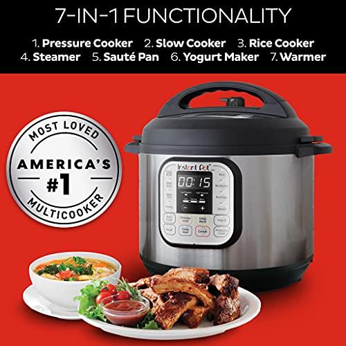 Instant Pot Duo Mini 3qt Cuisinière à pression programmable multi-usages 7-en-1, - 2