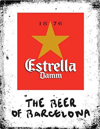 Lewistons-Of-Londres Estrella Damm Beer Lager España Barcelona inspirado en el vintage retro...