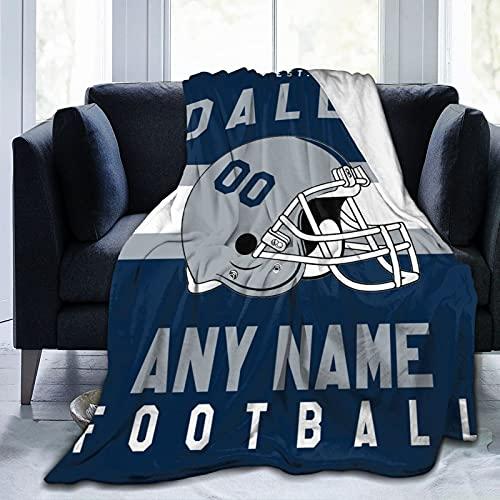Custom Football D.C. Blanket Personalized Fleece Throw Blanket Name Number Gift for Football Fans