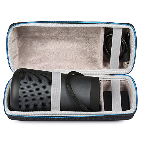 LuckyNV Travel Case for Bose Soundlink Revolve + Plus EVA Carry Protective Speaker Box Pouch Cover Extra Space for Plug & Cables