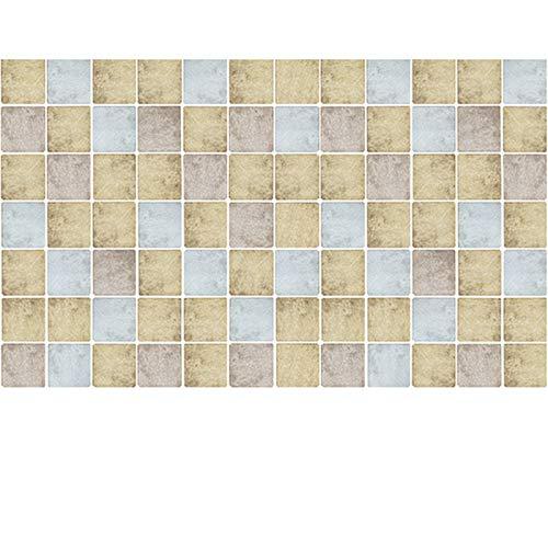 Papel pintado autoadhesivo de mosaico, rollo de plástico adhesivo impermeable, película de vinilo de PVC para muebles de baño, cocina, encimera, mesa de puerta (60 cm)