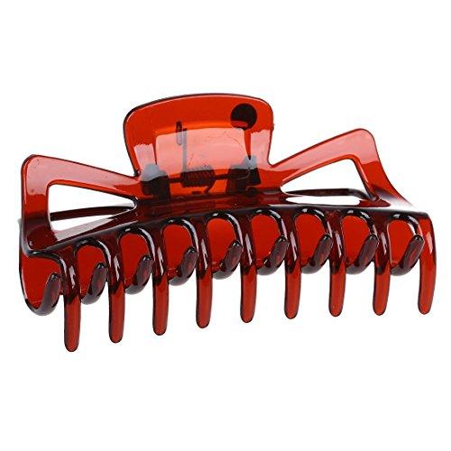 SODIAL(R) Pince a griffe de cheveux en plastique brun pour le bain