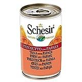 Schesir Cat Fruit Thunfisch mit Papaya, Katzenfutter nass, 24 Dosen x 140 g