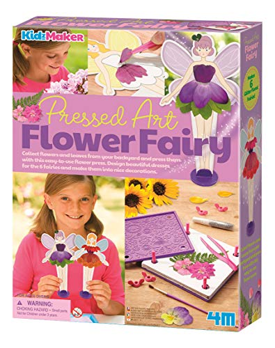 4M Kidzmaker Pressed Art Flower Fairy Kit, Multi, Model:3831