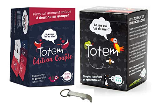 Set di 2 giochi francesi: Totem e Totem Edition Coppia + 1 apribottiglie Blumie