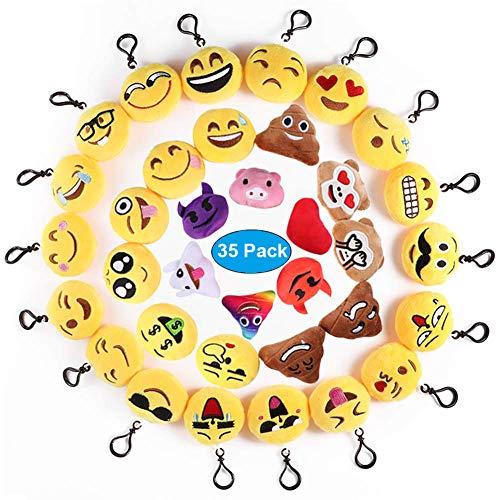 modello 18 PORTACHIAVI di Peluche Emoticon Classic SMILE MINI POP DA 6 CM