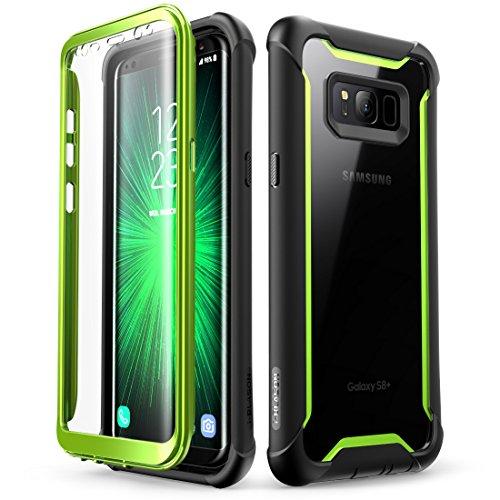i-Blason Custodia per Samsung Galaxy S8 Plus [Ares] Custodia a 360 gradi, resistente, con pellicola protettiva integrata per Samsung Galaxy S8 + Plus, verde