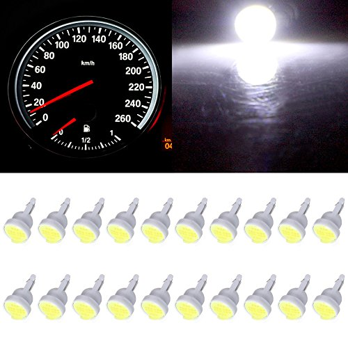 cciyu T10 Instrument Light White W5W 912 194 161 168 COB Car Instrument Panel Gauge Dash Wedge Bulbs 12V