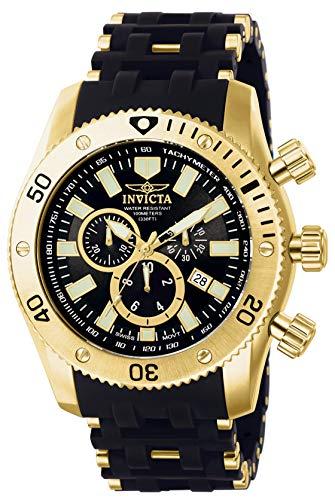 Invicta 0140 Sea Spider Herren Uhr Edelstahl Quarz schwarzen Zifferblat