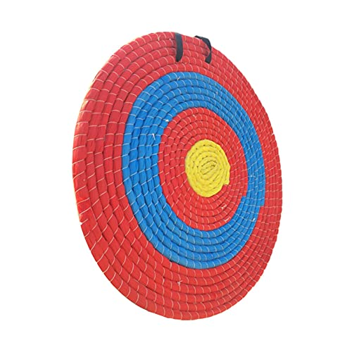 Bettying Handgemachte Stroh-Bogenschießen-Zielscheibe Traditionelles Pfeilziel-Spielzeug Stroh Bogenschießen Zielscheibe 4 Ringe Bullseye 40 cm