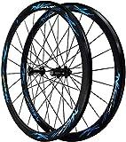 SOAR Cerchi Bici Road Bike Wheels 700C 40MM Biciclette ASSE Cerchi in Lega Ultraleggera a Doppia Parete V Disco Freno Quick Release Palin ralla 7 8 9 10 11/12 velocità, C (Color : #4)
