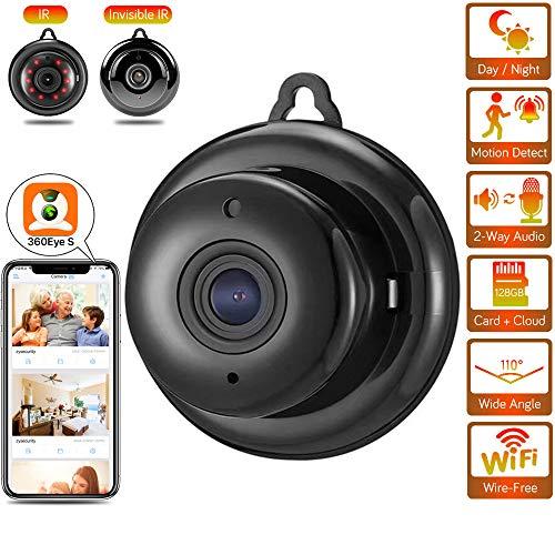 Spy camera, HD 1080P WiFi verborgen camera, kleine draadloze bewakingscamera met nachtzicht, bewegingsdetectie, externe weergave voor iPhone/Android-telefoon/iPad/pc