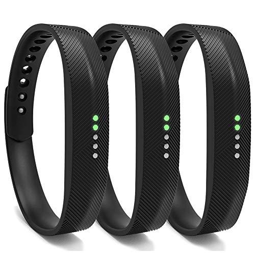 Bexido Armband für Fitbit Flex 2, Silikon Zubehör Ersatzarmband Einstellbar Ersatz Wechselarmband Ersatzband für Fitbit Flex 2