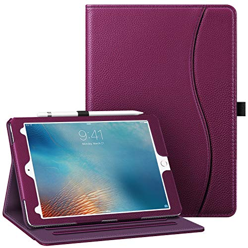 Fintie Case for iPad Pro 9.7 Inch 2016 Release Tablet- [Corner Protection] Multi-Angle Viewing Folio Smart Stand Back Cover with Pocket, Pencil Holder, Auto Wake/Sleep, Purple