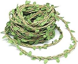 10m Silk Greenery Garland Faux Foliage Fake Leaves Hanging Vines Garland Artificial Plants for DIY Wreath Wedding Craft Ho...