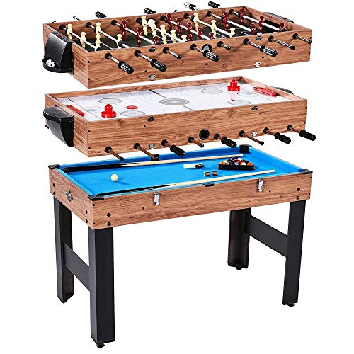 Lancaster 3 in 1 Pool Billiard, Slide Hockey, Foosball Combo Arcade Game Table