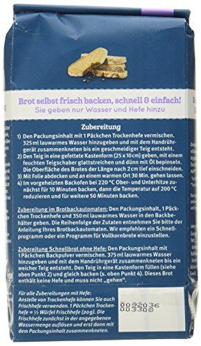 Bauckhof Dinkelbrot Vollkorn Demeter, 6er Pack (6 x 500 g) - 3