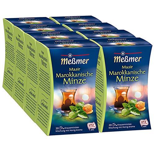 Meßmer Marokkanischer Masir, Minze-Honig, 20 Beutel, 8er Pack (8 x 40 g)