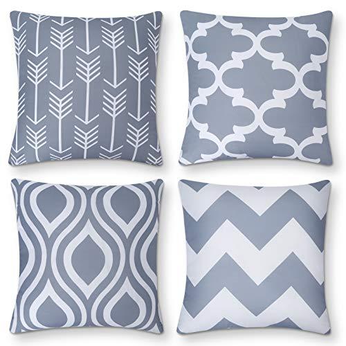 AYUNK Fundas de Almohada geométricas Fundas de Almohada Modernas Fundas de Almohada Decorativas para sofá sillón 45x45 cm, Juego de 4