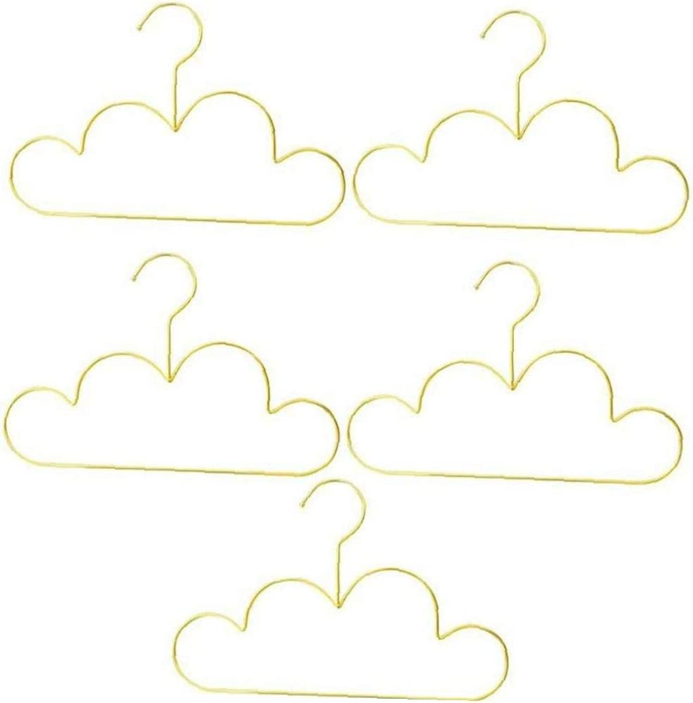 AMOYER sale 5pcs Mini Coat Hanger Iron Cloud safety Wall Standard Shape Hook