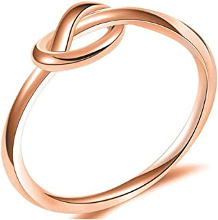 Jude Jewelers Size 3-13 Stainless Steel Simple Love Knot Celtic Promise Anniversary Statement Ring