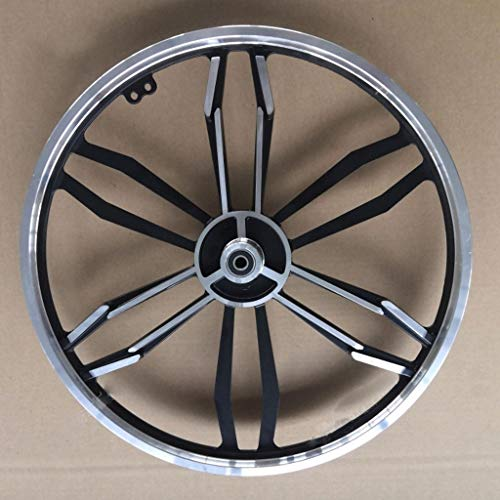 Llanta de aleación de ruta bici plegable de aluminio Set 20' freno de disco 10 radios Integrado de ruedas roscado eje central (rueda de la rueda delantera + trasera) ( Color : Black coffee )