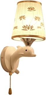 MX Light Fixture Modern Creative Bedroom Bedside Dolphin LED Wall Light (with Pull Switch)