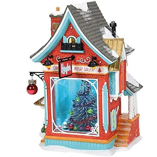 Department 56 North Pole Series Kringles Árbol de Navidad Galería de edificios iluminados